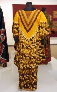 """Dyed m'Boubou featured in """"Measure of Earth: Textiles and Territory in West Africa"""" opening at the African American Cultural Center Gallery (Sept 19 - Dec 18, 2013)   Gregg Museum of Art & Design   www.ncsu.edu/gregg   NC State University"""