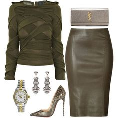 A fashion look from August 2015 featuring Burberry sweaters, Jitrois skirts and Christian Louboutin pumps. Browse and shop related looks. Mens New Years Eve Outfit Mode Outfits, Fall Outfits, Fashion Outfits, Womens Fashion, Mode Chic, Mode Style, Classy Outfits, Stylish Outfits, Vetements Shoes