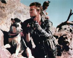 After Mad Max 2 (The Road Warrior), Dog went to live with Max Aspen the stunt… Mad Max Mel Gibson, Mad Max 2, Mad Max Fury Road, The Road Warriors, Arte Cyberpunk, Australian Cattle Dog, Cute Gay, Cultura Pop, Great Movies
