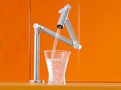 carbon fiber silver adjustable faucet