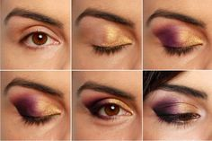Brown Eyes Make Up - Find out what is the most trendy make up for brown eyes. We give you a step by step guide with pictures of applying your make up like professionals! Party Makeup Tutorial, Eye Tutorial, Makeup Tips, Beauty Makeup, Hair Makeup, Makeup Tutorials, Makeup Ideas, Nice Makeup, Awesome Makeup