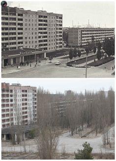 Tschernobyl vor 1986 und heute. Das Reaktorunglück stürzte eine ganze Region in die Katastrophe. 85.unserjahrgang.de