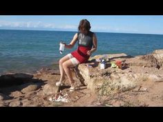 Elena - Strand, hohe Pumps und Food-Crush (beach, pumps and food-crush) ...