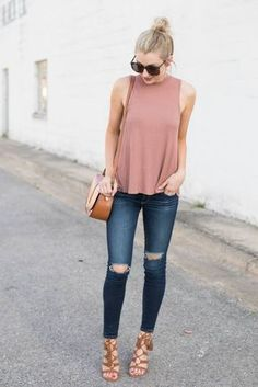 Jeans + Tank Top   12 First Date Outfits That Will Make Him Fall For You