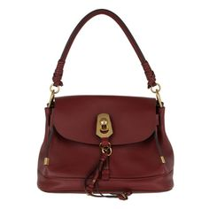 Chloé Tasche – Owen Bag With Flap Smooth Suede Sienna Red – in rot – Henkeltasche für Damen