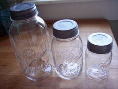 Canister Set of Vintage Clear Perfect Mason Ball