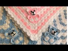 In this video I am giving how to crochet Bear for your blanket. This crochet Bear got good shape. Crochet Teddy, Crochet Bear, Crochet Animals, Crochet Blanket Patterns, Baby Blanket Crochet, Crochet Motif, Elephant Applique, Crochet Elephant, Cute Baby Gifts
