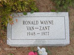 "Ronnie Van Zant (1948 - 1977) Musician. Born in Jacksonville, Florida, he was the lead singer and a founding member of the 1970s Southern rock band ""Lynyrd Skynyrd""."