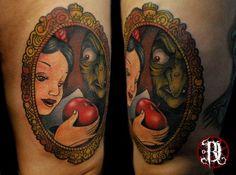 tattoome:  David Rudziński, Poland #tattoo #disney #tattoos #snowwhite