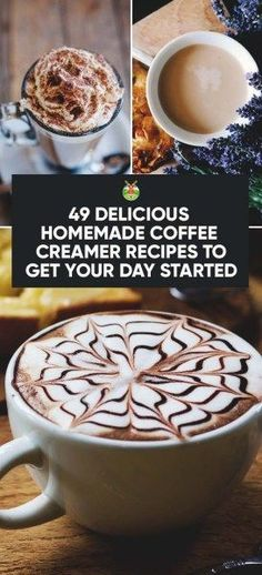 49 Delicious Homemade Coffee Creamer Recipes to Get Your Day Started Homemade Coffee Creamer, Coffee Creamer Recipe, Homemade Tea, Homemade Recipe, Fresco, Coffee Facts, Coffee Signs, Coffee Quotes, Keto