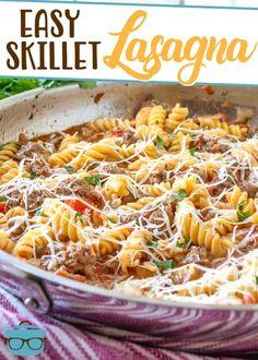 Casserole Recipes, Pasta Recipes, Beef Recipes, Baby Food Recipes, Cooking Recipes, Hamburger Casserole, Pasta Meals, Hamburger Recipes, Skillet Recipes