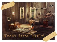 3t4 Trash Heap Bed (Request) | Sims 4 Designs