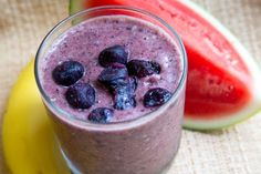 Super Energy Smoothie 2 pints pineapple 2 pints watermelon 2 quarts coconut water spinach blueberries 2 green apples