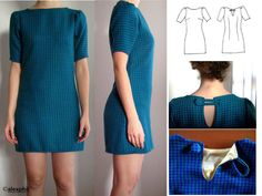 Sewing dress yourself: 15 free patterns to print - martine helevaut - - ROBE à coudre soi-même : 15 patrons gratuits à imprimer Bettinael.Made in France: Sewing dress yourself: 15 free patterns to print - Sewing Projects For Beginners, Sewing Tutorials, Sewing Tips, Dress Patterns, Sewing Patterns, Diy Kleidung, Mode Blog, Leftover Fabric, Couture Sewing