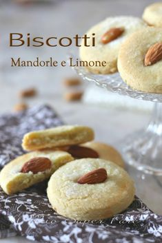 Baking Recipes, Cake Recipes, Biscuits, Best Italian Recipes, Cake & Co, Malaysian Food, Italian Cookies, Almond Cookies, Food Illustrations