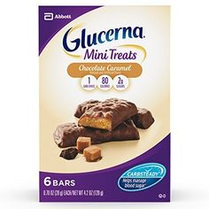 For a limited time while we transition to our new packaging, you may receive Glucerna Mini Snack Nutrition Bars or Glucerna Mini Treat Bars – both are the same great bar, just with a new name Glucerna Mini Treat Bars are indulgent treat replacements with CARBSTEADY, a unique blend of slow-release carbohydrates to help minimize blood sugar spikes These pocket-sized bars are perfect for on-the-go snacking and a convenient way to get valuable nutrients and stay fueled  #di