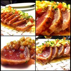 Tataki de atún con crudités de verduras, como plato principal o bien a compartir al centro, pescado azul siempre muy nutritivo y sobretodo ¡delicioso!…