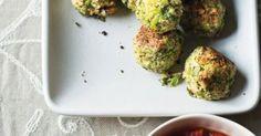 Broccoli Meatballs with-Garlic-Tomato Sauce