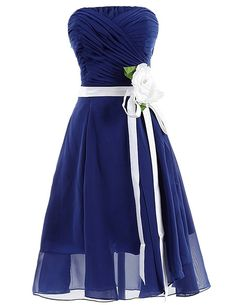 Dresstells Short Bridesmaid Dress Handmade Flower Evening Gown Prom Dress ** Insider's special review you can't miss. Read more  : Plus size fashion