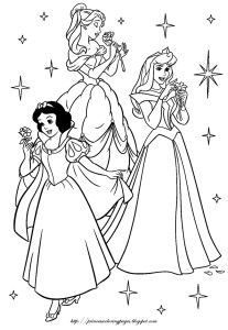 princess coloring pages with swirling dresses! | Tegninger ...