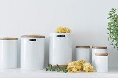 Bildergebnis für vorratsbehälter Food Storage, Interiors, Canning, Kitchen, Cooking, Home Canning, Decorating, Kitchens, Cuisine