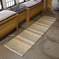 Natural living seagrass hallway runners in natural buy online from the rug seller uk Hall Runner Rugs, Hallway Runner, Hallway Inspiration, Kitchen Inspiration, Kitchen Runner, Natural Kitchen, Striped Rug, Modern Rugs, Natural Living