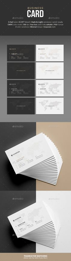 Business Card - Corporate Business Cards Download here : https://graphicriver.net/item/business-card/19121883?s_rank=169&ref=Al-fatih