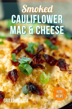 The beauty of this recipe is that it is Keto and Low carb so you can enjoy this guilt free! You can also push the easy button and if you are stressed for time, you can use riced cauliflower either sold in the produce section or even use the frozen riced cauliflower. This smoked cauliflower mac and cheese gives you all the feels of mac and cheese with added smoke flavor without any guilt, making this a stand out side dish that is a guaranteed crowd pleaser! #ketorecipes #pelletsmokerrecipes