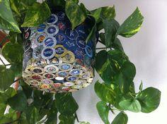 Beer Bottle Cap Hanging Flower Pot  No 1 by TheArtofDrinkingBeer, $125.00