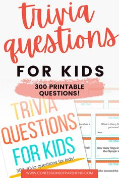 Games To Play Outside, Games To Play With Kids, Games For Fun, Kids Fun, Cool Kids, Family Trivia Questions, Trivia Questions For Kids, Parenting Ideas, Kids And Parenting