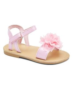 Another great find on #zulily! Light Pink Flower Sandal #zulilyfinds