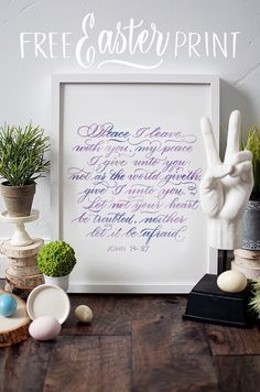 I Still Love You by Melissa Esplin: Easter Printable Printable Calligraphed Scripture Easter Printables, Free Printables, Free Art Prints, I Still Love You, Card Making Tutorials, Time To Celebrate, Christmas Quotes, Bookbinding, Gift Tags