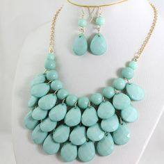 Drop Shape Necklace 3 Layers Necklace bubble necklace by OnlyPearl, $12.40