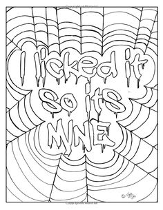 Naughty Sex Words and Phrases Time-Out Coloring Book Swear Word Coloring Book, Love Coloring Pages, Printable Adult Coloring Pages, Coloring Books, Coloring Sheets, Colorful, Patterns, Drawing, Sayings