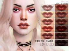 Creme Cake Lipbalm N162 for The Sims 4