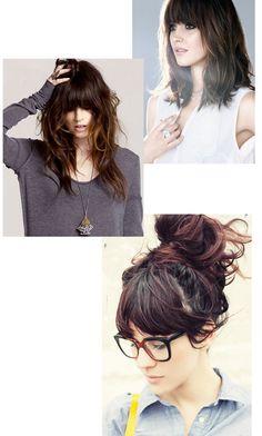 oh yeah, beautiful hair! oh yeah, beautiful hair! Love Hair, Great Hair, Hairstyles With Bangs, Pretty Hairstyles, Medium Hair Styles, Curly Hair Styles, Coiffure Hair, Braid Hair, Brunette Hair