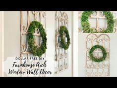 Dollar Tree DIY Farmhouse Arch Window Frame Wall Decor – Pamela's World Window Wall Decor, Frame Wall Decor, Diy Frame, Diy Wall Decor, Frames On Wall, Wall Art, Arched Wall Decor, Window Mirror, Window Frames
