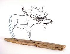 Moose Wire Sculpture. $70.00, via Etsy.