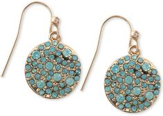 Rachel Roy RACHEL Gold-Tone Pave Crystal Disk Drop Earrings on shopstyle.com