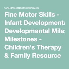 1000 Images About Fine Motor Activities Babies On