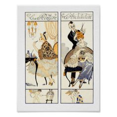 art deco hair posters - Google Search
