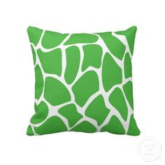 Giraffe Print Pattern in Jungle Green. Throw Pillow | Zazzle.co.uk