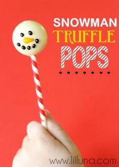 Snowman Truffle Pops
