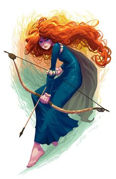 Brave - Merida by Nicc Balce