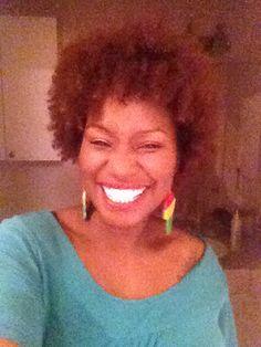 Natural hair, Afro and big smile