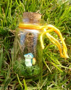 Tiny Pokemon Cyndaquil Inspired Bottle Charm by TinyBlissfulness, $14.00