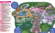 New Disney World Magic Kingdom map with apart of the new Fantasy Land added