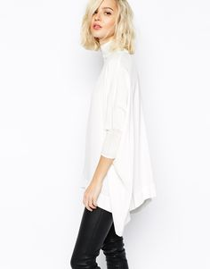 Gestuz Pandora Blouse with High Neck and Batwing Sleeve