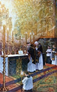 Mass attended by all the angels, saints and our blessed departed souls:
