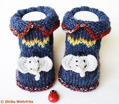 Strick- & Häkelschuhe - Babyschuhe - ein Designerstück von strickliene bei DaWanda